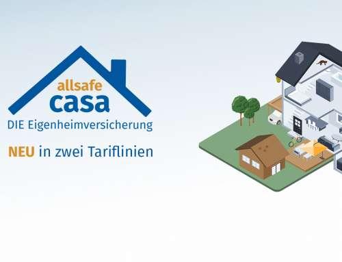 Neue Generation der Eigenheimversicherung allsafe casa